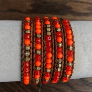 Chan Luu Jewelry - New Auth Chan Luu Indian Red Agate Mix Five Wrap B